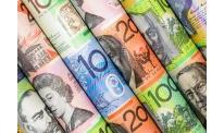 Australian dollar decline slower in midweek