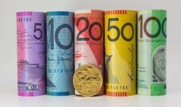 Australian dollar down on Tuesday