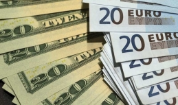 Euro to US dollar rate shows attempts to equilibrate