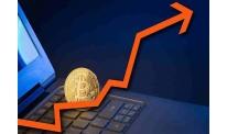 Bitcoin breaks out upward